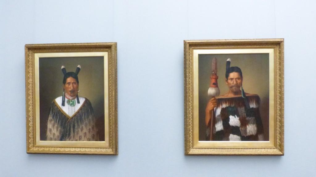 Gottfried Lindauer, Die Māori-Portraits, Alte Nationalgalerie Berlin, 2014/2015, Ausstellungsfragment. Foto © Urszula Usakowska-Wolff
