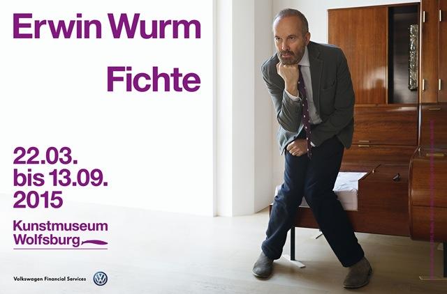 """Erwin Wurm: """"Fichte"""" . Kunstmuseum Wolfsburg, 22.03-13.09.2015"""