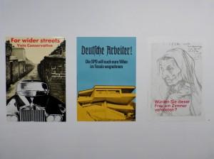 """Plakate von Klaus Staeck in der Ausstellung """"Kunst für alle"""". Foto © Urszula Usakowska-Wolff"""