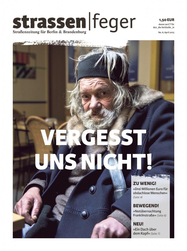 strassenfeger 8/2015 Titel Obdachlos
