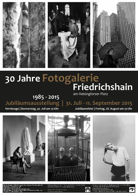 30 Jahre Fotogalerie, Plakat. Foto © Fotogalerie Friedrichshain