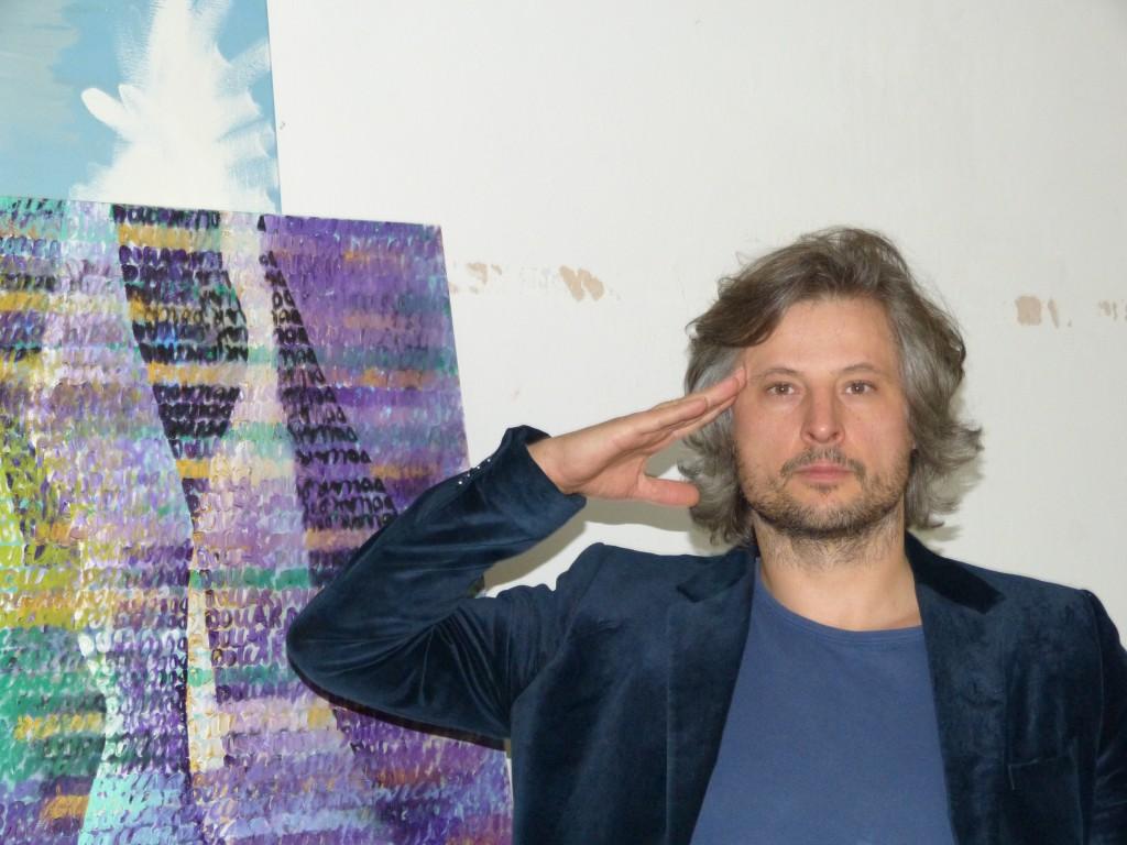 Sebastian Bieniek in seinem Atelier. Foto © Urszula Usakowska-Wolff