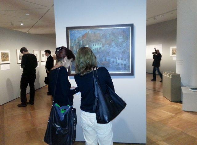 """Blick in die Ausstellung """"Kunst aus dem Holocaust"""" im Deutschen Historischen Museum Berlin. Foto © Urszula Usakowska-Wolff"""