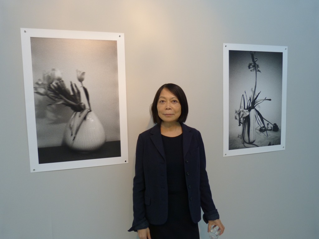 "Leiko Ikemura mit ""Blumen"". Haus am Waldsee Berlin. Foto © Urszula Usakowska-Wolff"