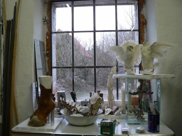 Im Atelier von Iris Schieferstein, 2012. Foto © Urszula Usakowska-Wolff