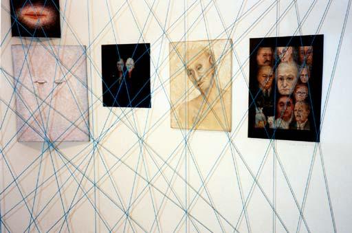 Blick in die Ausstellung von Erna Rosenstein, Galerie DAP Warszawa, 1997. Foto © Urszula Usakowska-Wolff