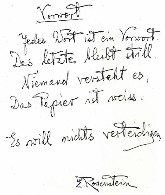 """Erna Rosenstein: Vorwort zu """"Meine Nacht wird hier sein und mein Tag"""", Gollenstein Verlag 1996. Sammlung Usakowska & Wolff Berlin. Foto © Urszula Usakowska-Wolff"""