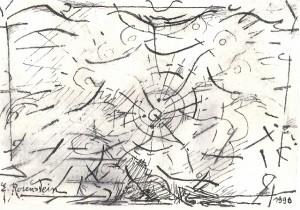 Erna Rosenstein, Zeichnung, 1996. Sammlung Usakowska & Wolff Berlin, Foto © Urszula Usakowska-Wolff