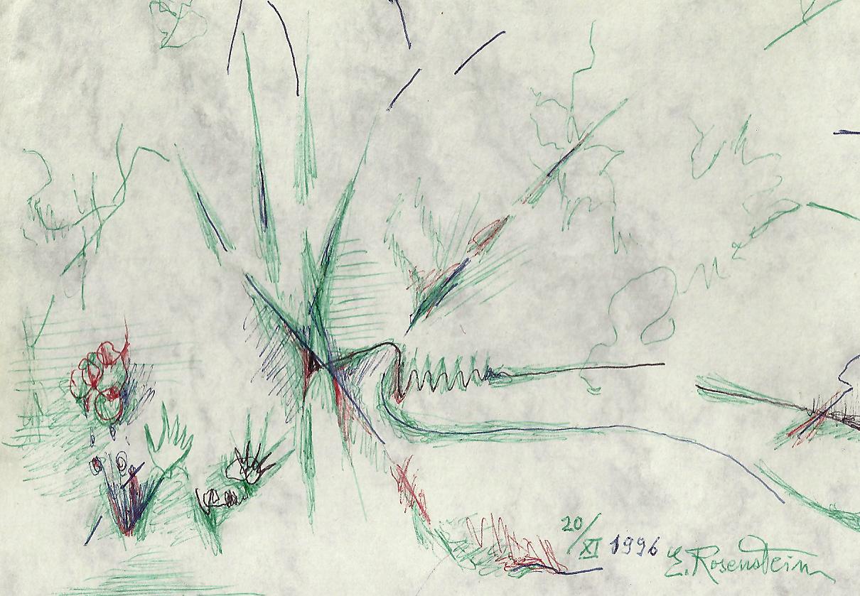 Erna Rosenstein, Zeichnung, 1996. Sammlung Usakowska & Wolff Berlin. Foto Urszula © Usakowska-Wolff