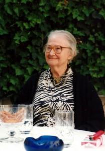 Erna Rosenstein nach einer Lesung in Düsseldorf, 1996. Foto © Urszula Usakowska-Wolff