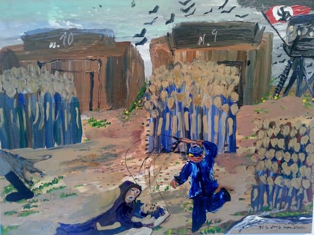 """Ceija Stojka, N.10, N.9, 12.05.2005. Ausstellung """"Sogar der Tod hat Angst vor Auschwitz"""", Berlin 2014. Foto: Urszula Usakowska-Wolff"""