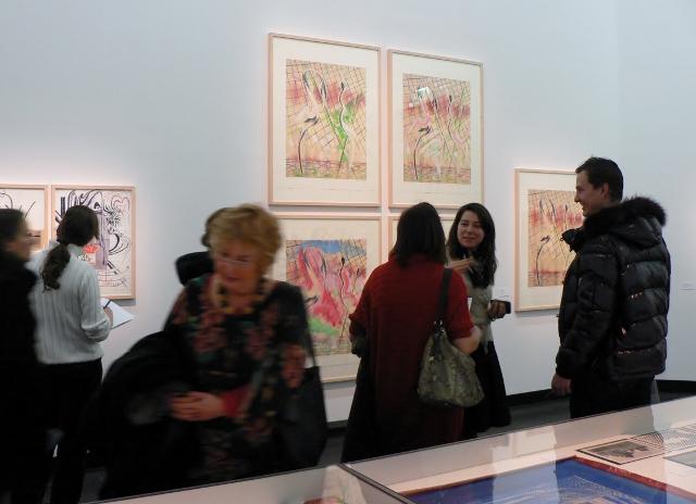 """Die Ausstellung """"Sigmar Polke. Eine Hommage. Bilanz einer Künstlerfreundschaft Polke/Staeck"""" in der Akademie der Künste ist ein Publikumserfolg. Foto © Urszula Usakowska-Wolff"""