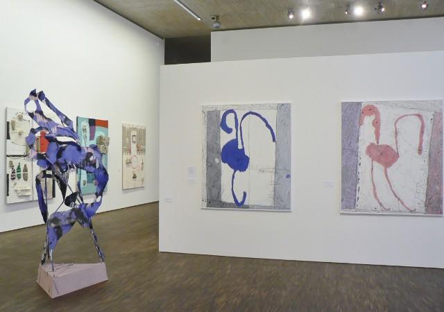 """Ausstellungsansicht """"Fly to Baku. Zeitgenössische Kunst aus Aserbaidschan"""", me Collectors Room, 2012. Foto © Urszula Usakowska-Wolff"""
