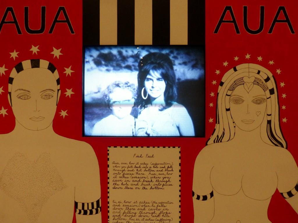 Dorothy Iannone, Aua Aua (Detail), 1972-2005, Ausstellung This Sweetness Outside Of Time. Gemälde, Objekte, Bücher 1959-2014. Berlinische Galerie. Landesmuseum für Moderne Kunst, Fotografie und Architektur, 20.02.-2.06.2014. Foto © Urszula Usakowska-Wolff