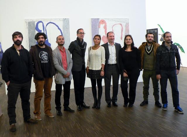 Baku und Paris in Berlin: links neben Aida Mahmudova steht Kurator Hervé Mikaeloff, me Collectors Room Berlin,4.11.2012. Foto © Urszula Usakowska-Wolff