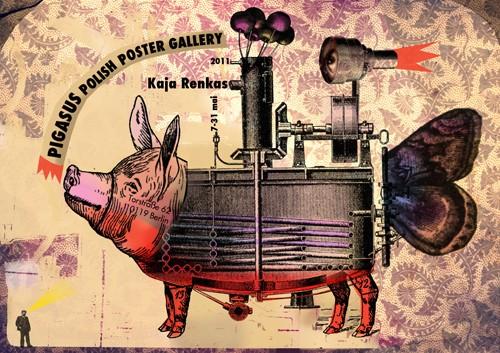 Von Kaja Renkas entworfenes Plakat ihrer Ausstellung in der Pigasus – Polish Poster Gallery, Berlin. Foto © Kaja Renkas