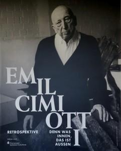 Emil Cimiotti, Ausstellungsplakat, Georg-Kolbe-Museum, 2017. Foto © Manfred Wolff