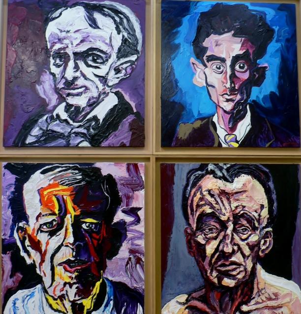 Charles Szymkowicz, Baudelaire, Kafka, Beckmann und Freud. Foto © Urszula Usakowska-Wolff