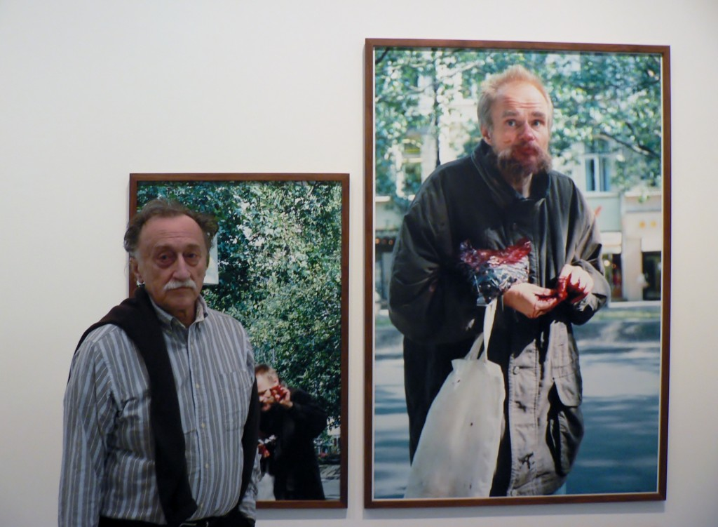 Boris Mikhailov (links), Berlinische Galerie, 25.02.2012. Foto © Urszula Usakowska-Wolff
