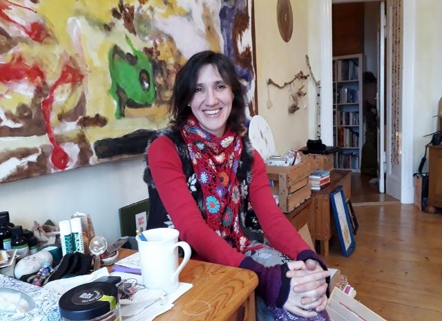 Karin Harboe in ihrem Atelier. Foto © Urszula Usakowska-Wolff