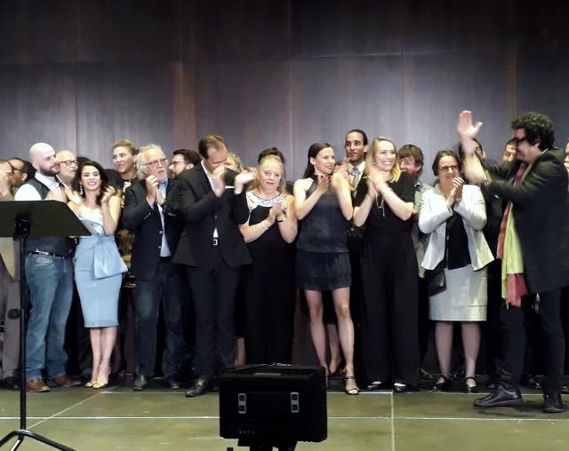 Salve Ensemble! Rolando Villazón (rechts), Deutsche Oper Berlin, 28.04.2018, Foto © Urszula Usakowska-Wolff