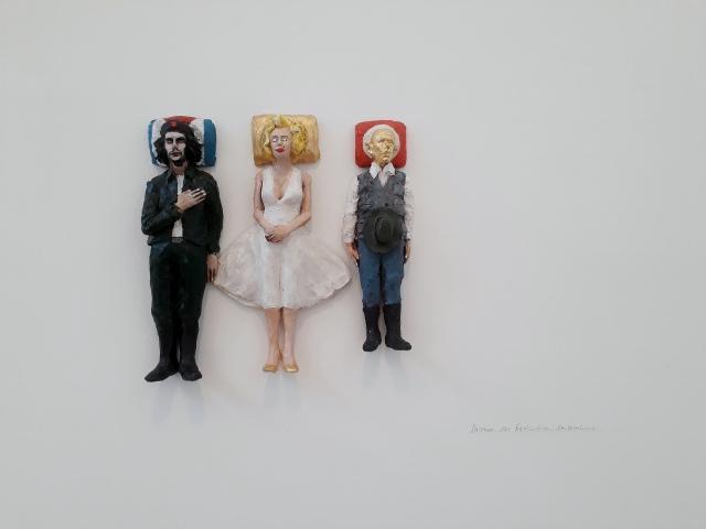 Volker März, Che Guevara, Marilyn Monroe und Joseph Beuys, Kolbe-Museum, 2018. Foto © Urszula Usakowska-Wolff