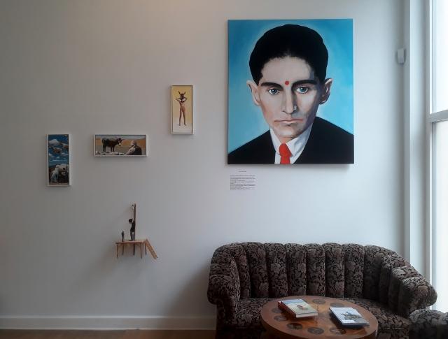 Volker März, Franz Kafka in Israel, Georg-Kolbe-Museum Berlin, 2018. Foto © Urszula Usakowska-Wolff