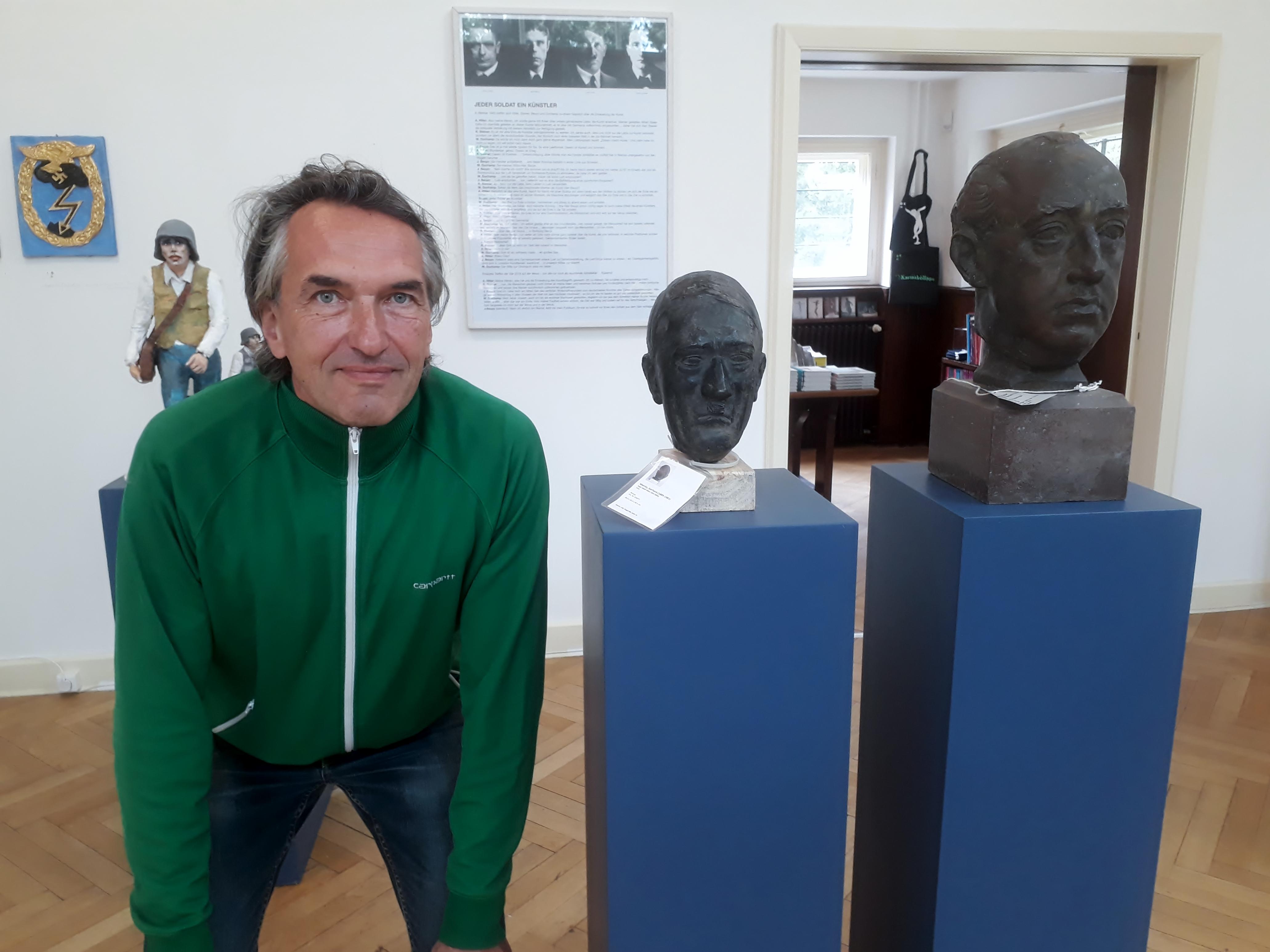 Volker März neben Hitler von Marcks und Franco von Kolbe. Foto © Urszula Usakowska-Wolff