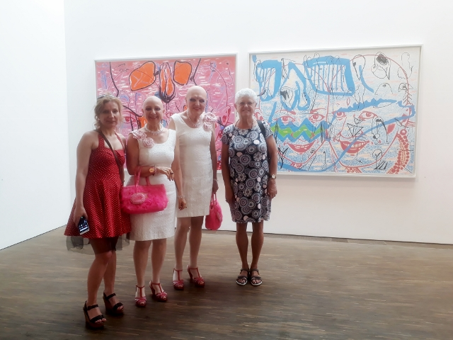 Gruppenbild mit Damen: Beata Opic aus Bydgoszcz, Adele & Eva und Urszula Usakowska-Wolff aus Berlin, 9. Juni 2018 im me Collectors Room