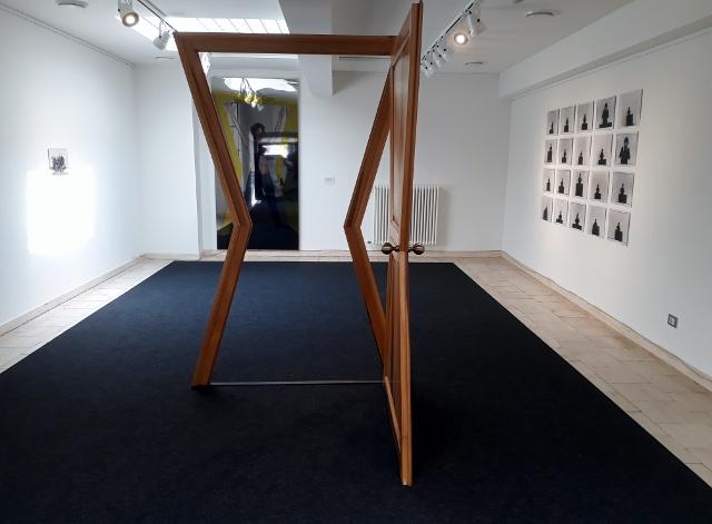 Blick in die Ausstellung von Michelangelo Pistoletto im Italienischen Kulturinstitut Berlin, Foto © Urszula Usakowska-Wolff