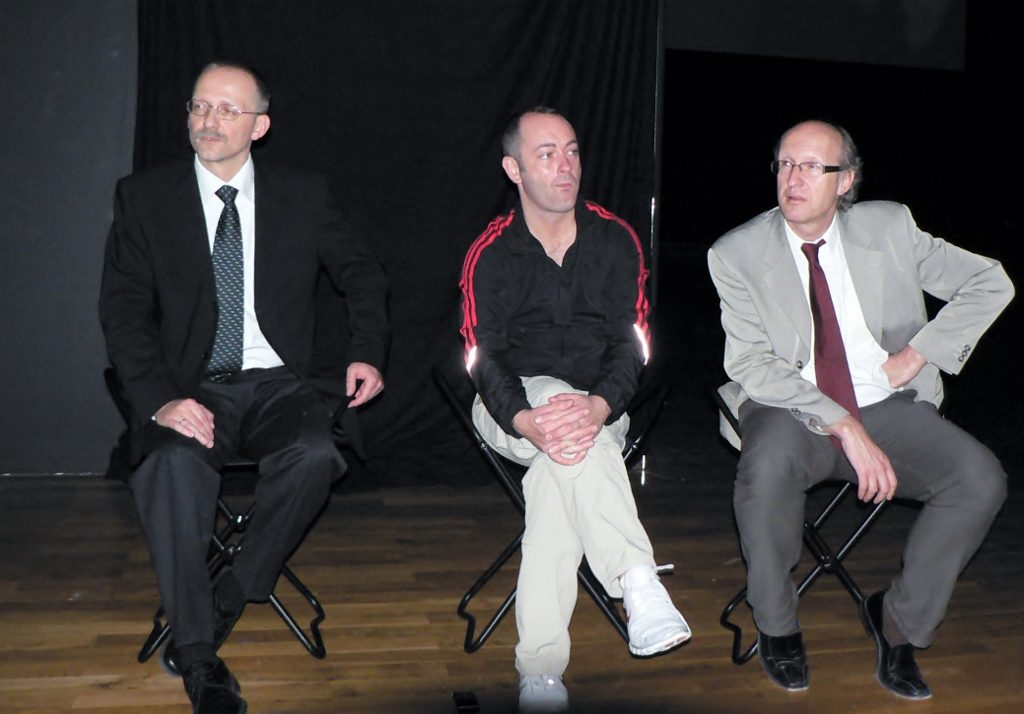 Holger Broeker (links), Douglas Gordon und Markus Brüderlin, 2007. Foto © Urszula Usakowska-Wolff