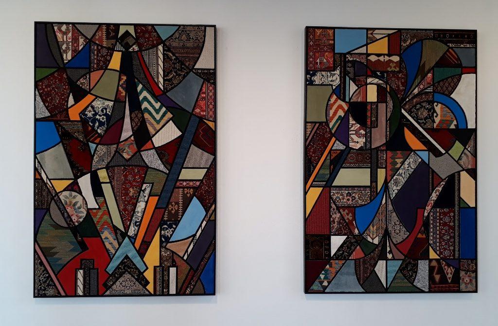 Nevin Aladag, Teppichbilder aus der Serie Social Fabric. Foto © Urszula Usakowska-Wolff
