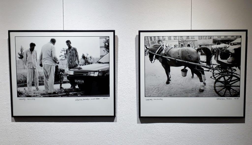Harald Hauswald, Rumänien, An der-Fähre, 1992, und Warschau, Polen, 1995.© Urszula Usakowska-Wolff