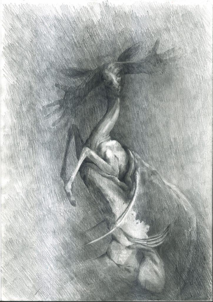 Irmina Pisarek, Ohne Titel, 2019. Bleistift auf Papier, 29,7 x 42 cm