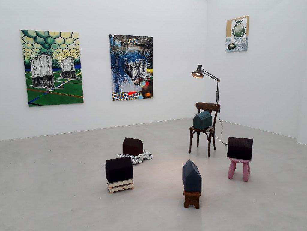 "Romain Van Wissen, Blick in die Ausstellung ""La maison somnole"", Berlin, 2019. © Urszula Usakowska-Wolff"