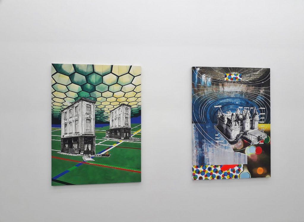 """Romain Van Wissen, Blick in die Ausstellung """"La maison somnole"""" in der Saarländischen Galerie Berlin. Foto © Urszula Usakowska-Wolff"""