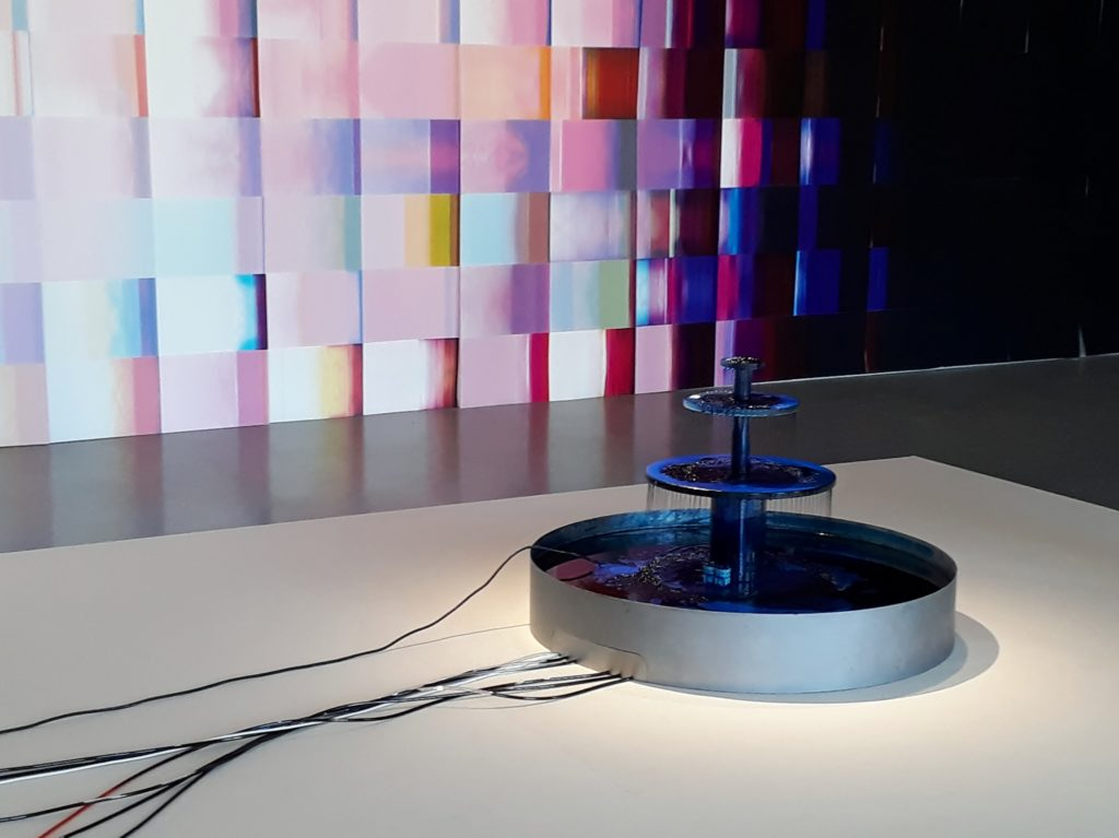 """Blick in die Ausstellung """"seeing is believing"""" von Caline Aoun im PalaisPopulaire Berlin. Foto © Urszula Usakowska-Wolff"""