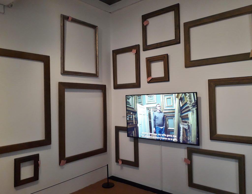 """Blick in die Ausstellung """"Unzertrennlich. Rahmen und Bilder der Brücke-Künstler"""". Foto: Urszula Usakowska-Wolff"""