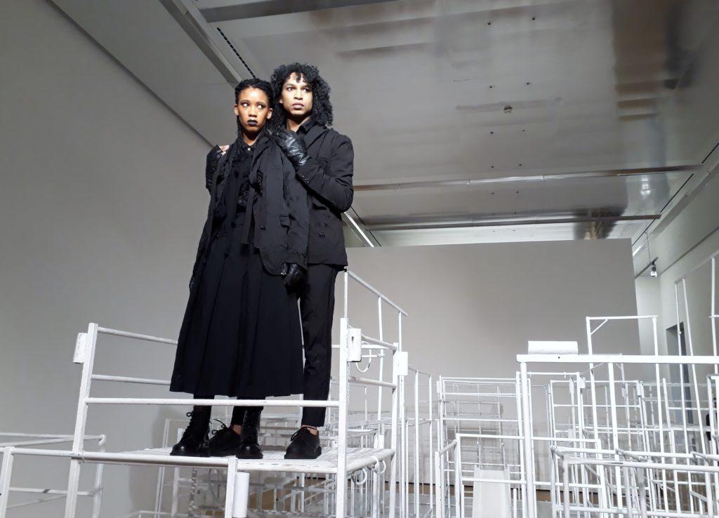 Maxime Scheepers und Kevin Narain, Performance, 26. September 2019, Kunstmuseum Wolfsburg. Regie Robin Rhode. Foto © Urszula Usakowska-Wolff