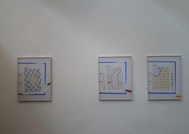 """Natalie Czech, aus der Serie """"Negative Calligrames"""", 2018. Foto: Urszula Usakowska-Wolff"""