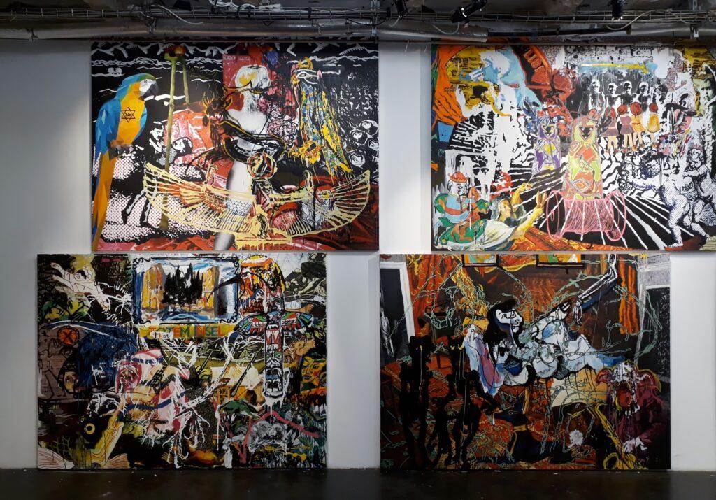 """Orsten Groom, Ausstellungsansicht """"Chrome Dinette"""", Urban Spree Galerie Berlin, Oktober 2020. Foto © Urszula Usakowska-Wolff"""