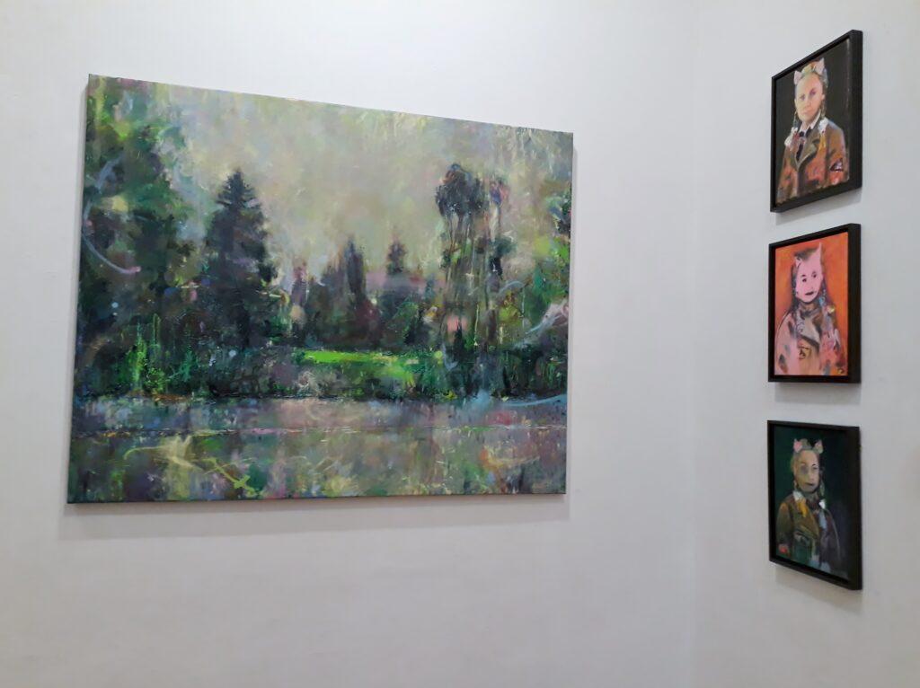 Catherine Bourdon, Gemälde, K-Salon Berlin, 3.-12-12.12.2020. Foto © Urszula Usakowska-Wolff