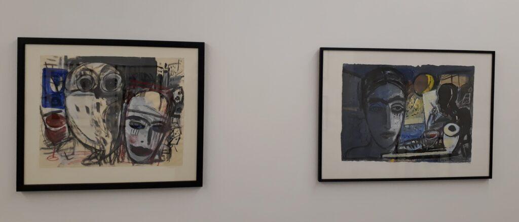 Blick in die Ausstellung Zufall, Blick und Spiel von Ellen Fuhr, Galerie Helle Coppi, Berlin, 2020/2021. Foto © Urszula Usakowska-Wolff