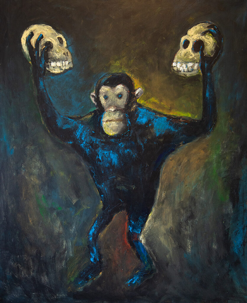 Andrzej Koston, Die Gesetze der Gewinner, Öl auf Leinwand, 100 x 120 cm. Foto © Andrzej Koston