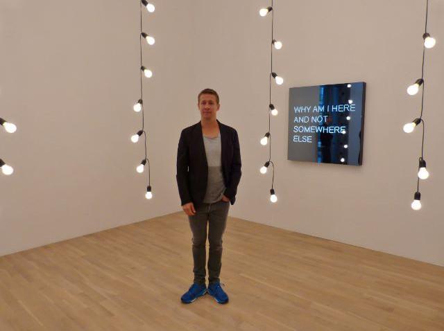"""Jeppe Hein in der Ausstellung """"This Way, Kunstmuseum Wolfsburg, 12.11.2015. Foto © Urszula Usakowska-Wolff"""