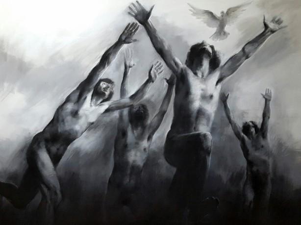 Mario Lischewsky, Exit, 2016, Öl auf Leinwand, 140 x 190 cm