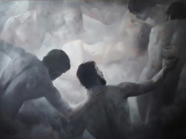 Mario Lischewsky, Götterdämmerung, 2016, 150 x 200 cm. Öl auf Leinwand. Photo courtesy the artist
