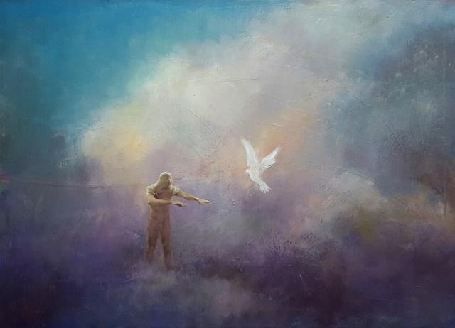 Mario Lischewsky, Migration, 2016, Öl auf Leinwand, 70 x 100 cm. Photo courtesy the artist