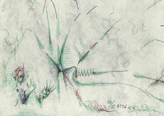 Erna Rosenstein, Zeichnung, 1996. Sammlung Usakowska & Wolff Berlin. Foto © Urszula Usakowska-Wolff
