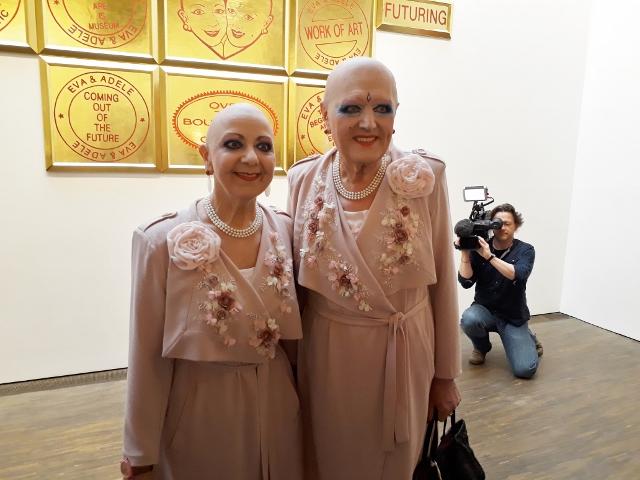 "Eva & Adele, Ausstellung ""L'amour du risque"", me Collectors Room, 2018. Foto © Urszula Usakowska-Wolff"